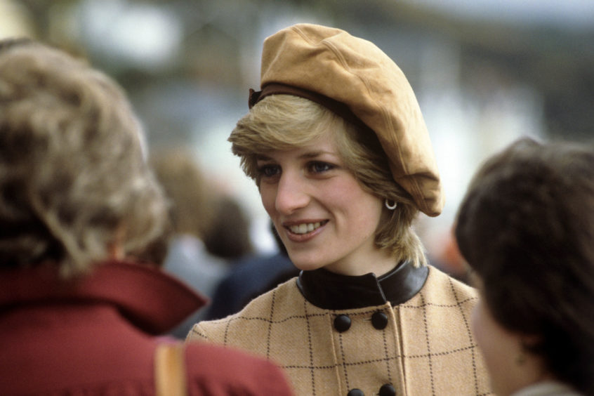 The Princess of Wales during her visit to Dolgellau in Wales. The hat that she was wearing is on display at the exhibition.