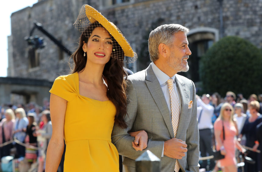 The hat that Amal Clooney wore to the Royal Wedding in 2018 is amongst those in the Chinoiserie-on-Sea exhibition.