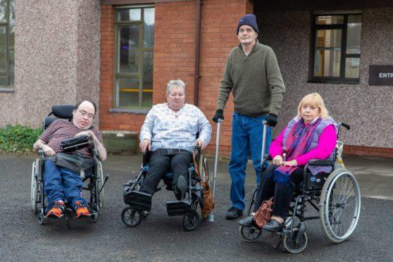 Service users Alan Johnstone, Shonagh Barrie, Vincent Sullivan and Elsa Gilfillan
