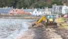 The clean-up operation at Limekilns