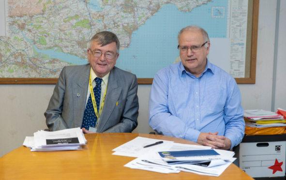 Fife Council co-leaders, SNP Councillor David Alexander and Labour Councillor David Ross.