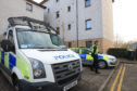 Police activity in Viewfield Place