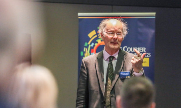 Professor Sir John Curtice, and panel guests at The Courier's latest Business Briefing.