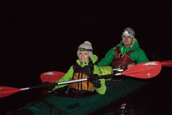 Gayle heads out for a night kayaking trip with Piotr Gudan of Outdoor Explore.