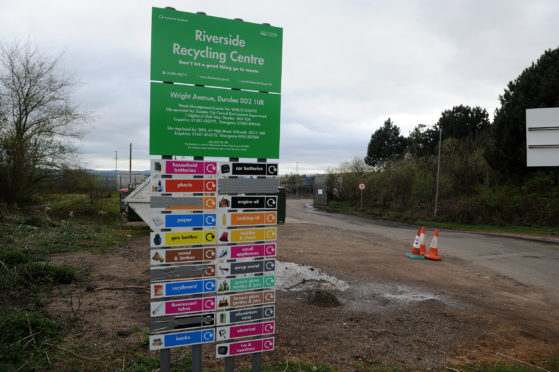 Riverside Recycling Centre in Dundee is now out of bounds for Fife residents.
