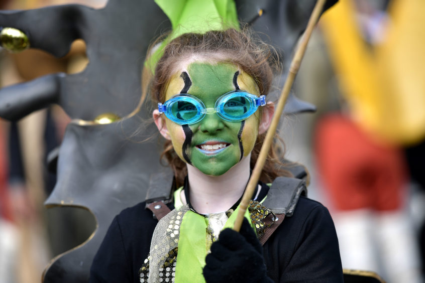 Festival participants take part in the annual Saint Patrick's Day parade on March 17, 2019 in Dublin, Ireland.