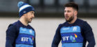 Scotland captain Greig Laidlaw(L) with replacement Ali Price