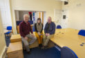 VAA officials Bill Muir, Gary Malone and Hayley Mearns in their new Forfar premises.