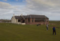 CR0007406   Arbroath Golf Links have invested heavily in new facilities which they say will keep them at the heart of the community.  Gv of 18th and clubhouse  Pic Paul Reid