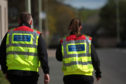Community Wardens walking the streets of Forfar