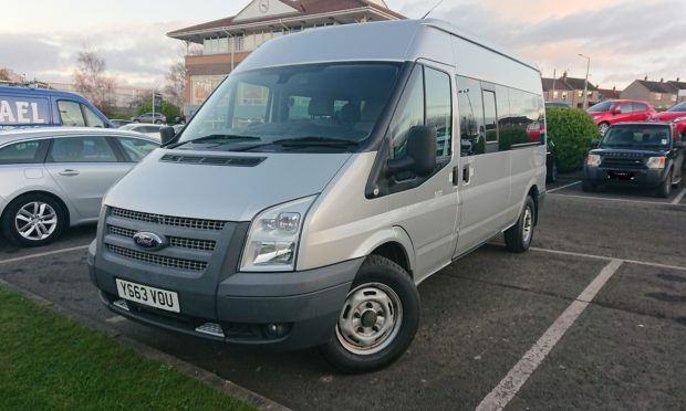 The minibus was stolen from Forfar.