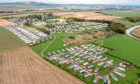 An aerial view of Clayton Caravan Park where a £2 million leisure complex is being constructed.