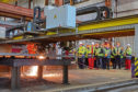 First steel is cut at BiFab Arnish for GeoSea Moray wind farm