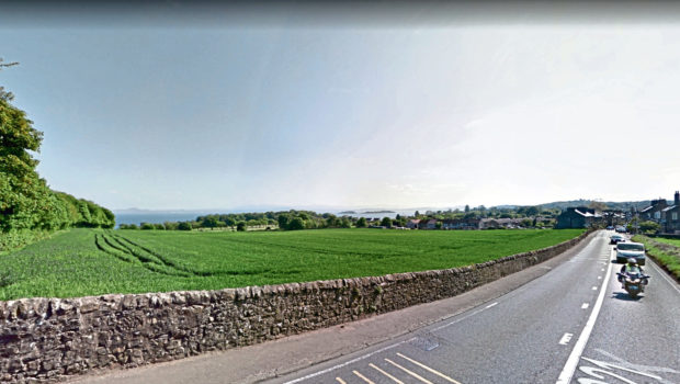 Site south of Main Street, Aberdour, where Cala wants to build new houses.
