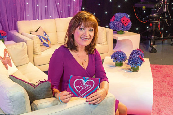 Lorraine Kelly was trustee of STV Appeal that has raised money to support a Save the Children families and schools programme in Dundee STV Appeal Pic Peter Devlin