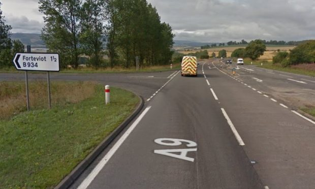 The A9 Forteviot turn-off.