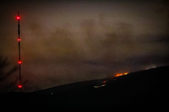 The fire at Sidlaw Hills.