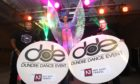 Richard Martin, left, and Mike McDonald, with Verity Power at DUSA, to launch the Dundee Dance Event 2019.