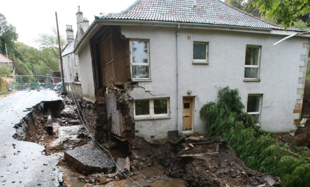 The Coach House was so badly damaged in the Dura Den flood it had to be demolished