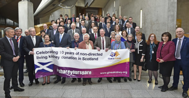 the donors meet First Minister Nicola Sturgeon and other MSPs