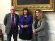 George Bowie, Amanda Kopel and Councillor Lois Speed