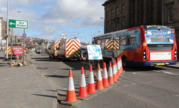 Emergency gas works on Dock Street have caused traffic chaos.