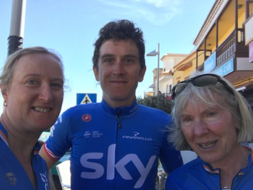 Geraint Thomas meets some of his fans in Tenerife.
