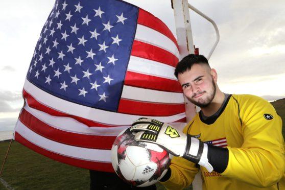 Arran Lyall is off to Kansas on a four-year football scholarship.