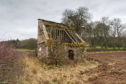 Kinnettles doocot near Douglastown in Angus is in a state of disrepair.