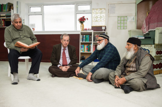 Members of the Kirkcaldy Muslim Centre, from left: Ahmed Mian, Dr Bashier Oudeh, Faqir Mohammad and Iftkhar Sajid.