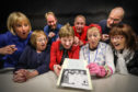 The cast of the show which was a hit with Kirriemuir and Forfar audiences
