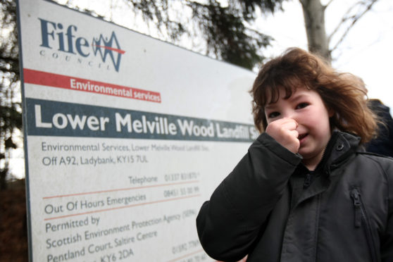 Residents of Letham in Fife are suffering from the 'Melville Pong' from the Lower Melville Wood Landfill site.