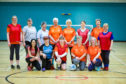 Gayle with women members of Scone Walking Football.
