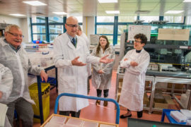 Rural Affairs Minister Mairi Gougeon, right, opened the new SRUC animal disease surveillance lab on the outskirts of Edinburgh.