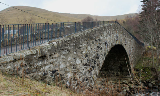 Military bridge in Spittal of Glenshee.