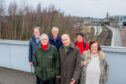 Campaigners against the felling of trees near Glover Street, Perth