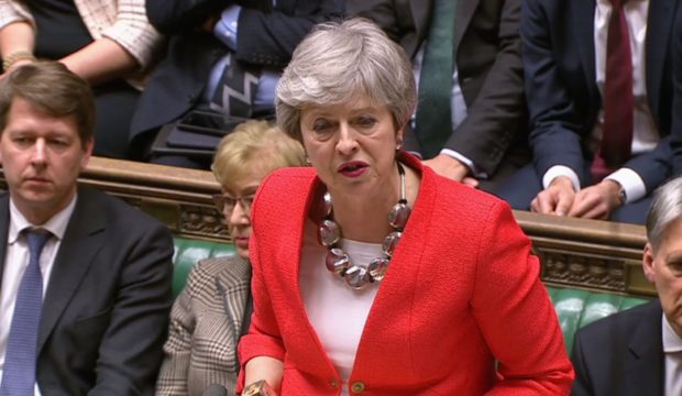 Prime Minister Theresa May speaking in the House of Commons, London, after the Government''s Brexit deal was rejected by 391 votes to 242.