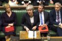 Prime Minister Theresa May during a Brexit debate in the House of Commons.