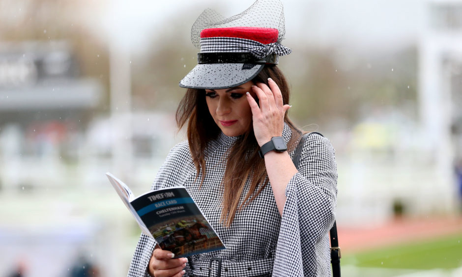 Suzanne Ryan from Dublin during Champion Day of the 2019 Cheltenham Festival. Nigel French/PA Wire