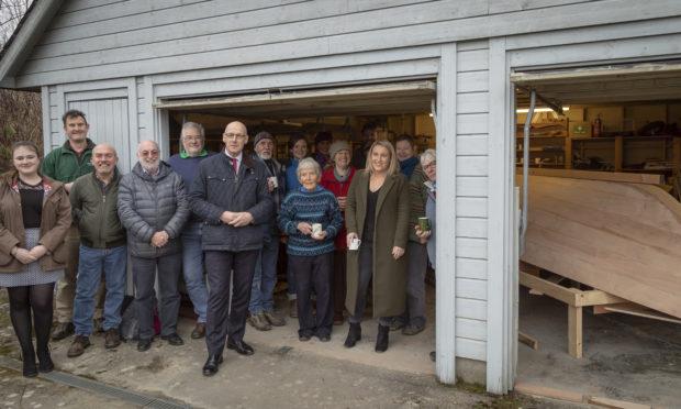 MSP John Swinney meets volunteers at Loch Tay