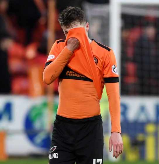 WILLIAM HILL SCOTTISH CUP QUARTER FINAL DUNDEE UNITED V INVERNESS CT TANNADICE - DUNDEE Dundee United& Jamie Robson looks dejected