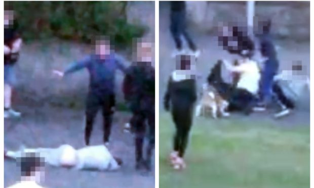 Footage of the shocking incident in Burntisland was posted to social media.