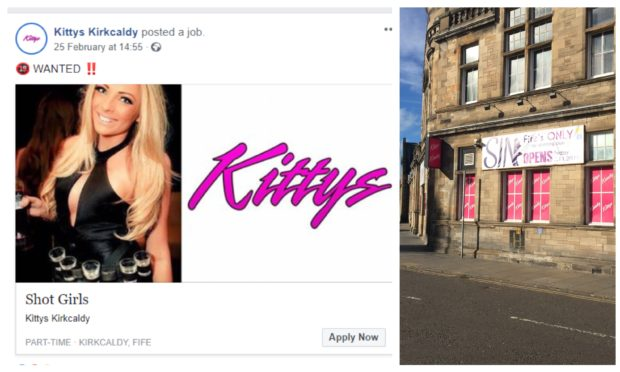 The Kittys job advert for shot girls has been reported to the Equality and Human Rights Commission.
