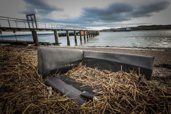 The sofa on the beach.