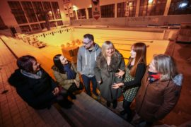 The team at the old Montrose Swimming Pool.
