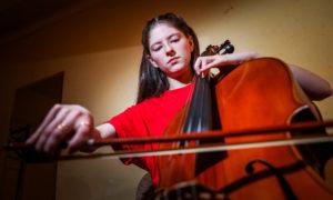Grace Dobson, 17, a cellist from Harris.