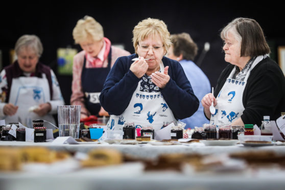 Picture shows; Jane Forbes and Sheila Simmers, who are judging the Housewife category