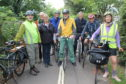 Willie Rennie MSP (third from right) with local cycling enthusiasts.