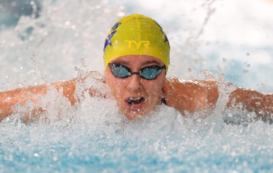 Ciara Schlosshan competes in the Women's 50m Butterfly heats.