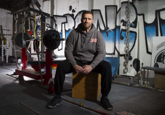 Lee Page owner of The Warehouse a gym in Arbroath.